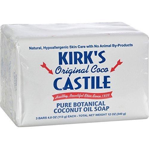 Kirk's Castile Soap, Pure Botanical Coconut Oil - 4 Oz, 3 Ea/Pack (Pack of 16) by  (Image #1)