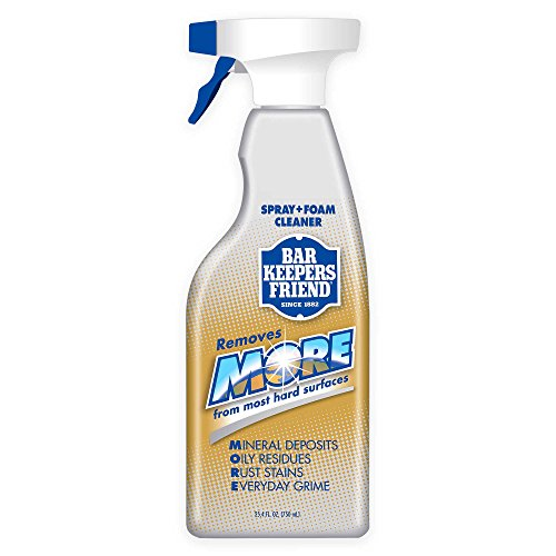 Bar Keepers Friend MORE Dual Action Nozzle Spray and Foam Cleaner | 25.4 Fluid Ounces | 2-Pack