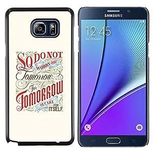 Jordan Colourful Shop - TOMORROW INSPIRING MOTIVATIONAL RETRO For Samsung Note 5 N9200 N920 - < Personalizado negro cubierta de la caja de pl????stico > -