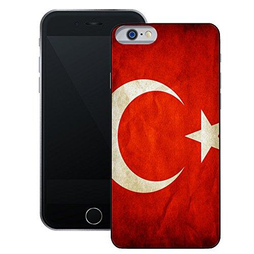 Türkei Flagge | Handgefertigt | iPhone 6 6s (4,7') | Schwarze Hülle