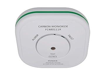 Elro Detector de monóxido de carbón con Soporte magnético y 10 años, Sensor Detector de