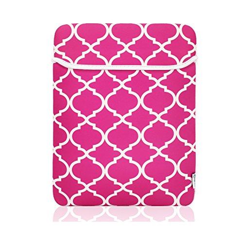 TopCase Pink Quatrefoil/Moroccan Trellis Sleeve Bag Case Cover for Apple MacBook 12