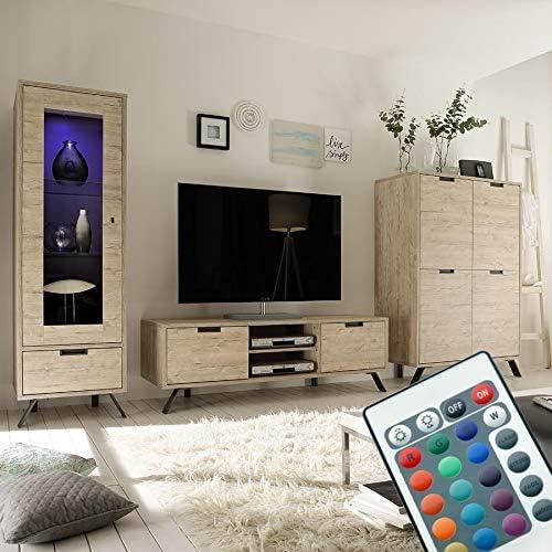 Kasalinea - Conjunto de Mueble de TV Moderno con Pluma: Amazon.es: Hogar
