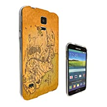 873 - Lord Of The Ring Map Of Middle Earth Design Samsung Galaxy S5 / S5 Neo fashion Trend CASE Gel Rubber Silicone All Edges Protection Case Cover