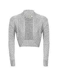 Ladies Long Sleeved Knitted Shrug Glitter Bolero Cardigan Women Glitter Top