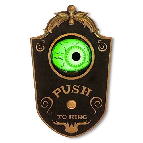 Light Up Talking Eyeball Doorbell - Haunted House Halloween Party Prop]()