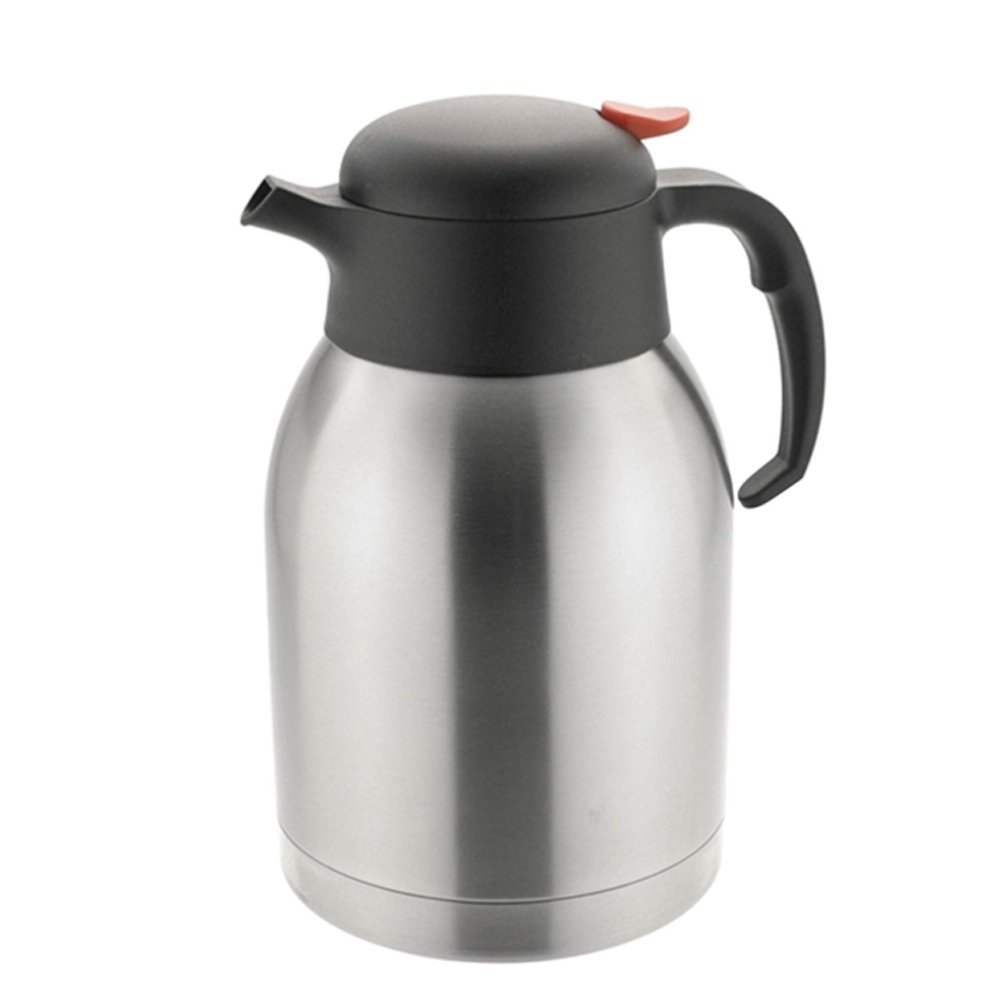 QIN.J.FANG Push Button Vacuum Jug,Penguin Mouth Stainless Steel Vacuum Jug Flask Thermoses Water Kettle Bottle Pot,2L