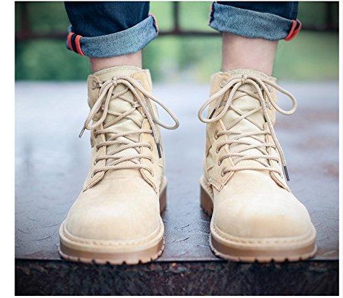 HL-PYL - Martin Stiefel zu helfen kurze Stiefel Die koreanische Version zu helfen Der koreanischen Platte Rutschfeste und Wear-Resistant und Antiantique 39 Wüste Gelb