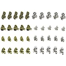 Honbay 40pcs Antique Tube Charms Crafting Pendant Jewelry Making DIY Finding Charms for Bracelet Necklace