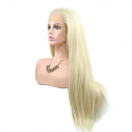 Peluca de pelo natural rubio pastel 613# peluca de encaje frontal ...