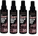 L'Oreal Advanced Hair Style Blow Dry It Quick Dry Primer Spray 4.2z (Pack of 4)