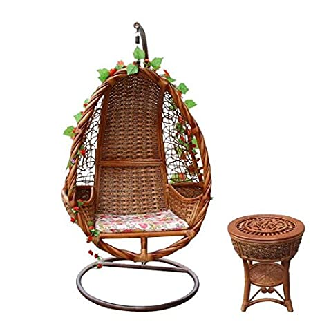 Amazon.com : Natural Bamboo - Rattan Wicker Swing Set ...