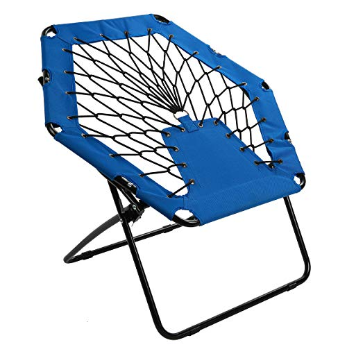 Harvil Portable Hexagon Bungee Chair, Blue