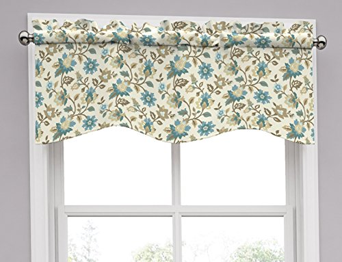 Traditions by Waverly 14968052016SPA Set In Spring 52-Inch by 16-Inch Wave Window Valance, Spa