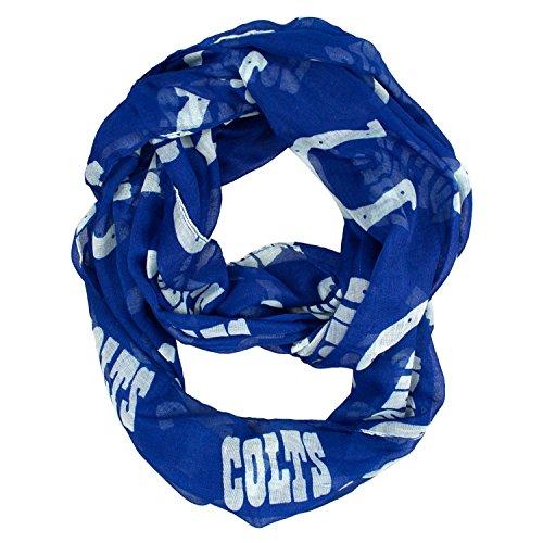 肖像画に賛成敷居NFL公式ライセンスIndianapolis Colts薄手ロゴinfinity scarf