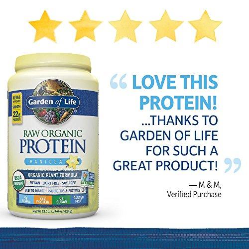 Garden Of Life Organic Vegan Protein Powder With Vitamins And Probiotics Raw Organic Plant
