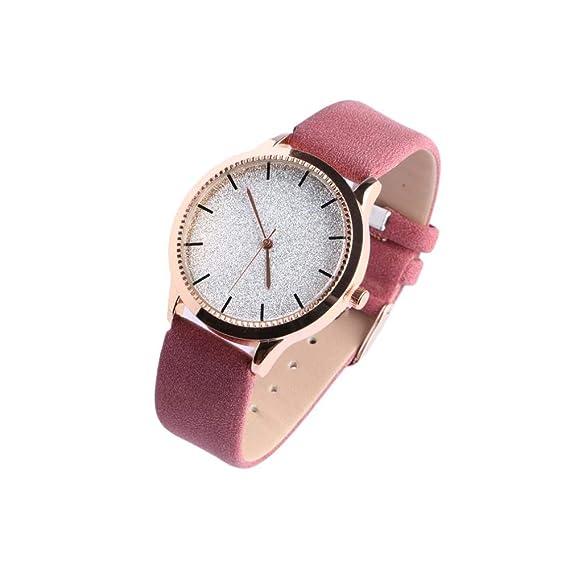 Reloj Mujer pedrería Plata Pulsera Cuero Rosa staly – Mujer