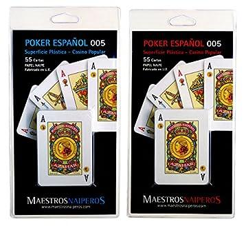 Maestros Naiperos- baraja Poker, español, 50, Cartas ...