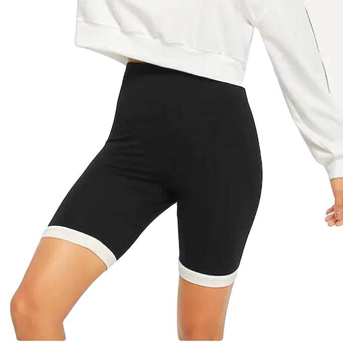 Amazon.com: Pantalones elásticos de cinco puntos huecos para ...