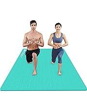 RYTMAT Yogamatta Stor 200cm×130/120cm Gymnastikmatta Tjock 15mm/10mm NBR Träningsmatta för Gym Pilates Yoga med yogaväska