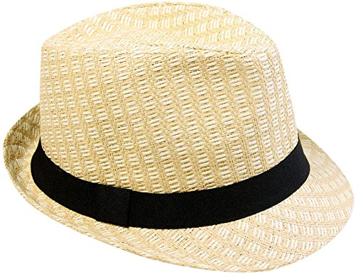Summer 2 Tone Colored Straw Fedora Hat