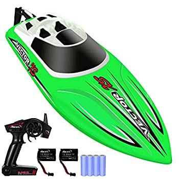 YEZI Distant Management Boat for Swimming pools & Lakes,Quick RC Boat for Youngsters & Adults,Self Righting Distant Managed Boat W/Additional Battery
