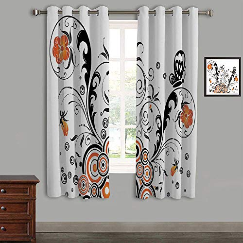 AngelSept Polyester Curtains Back Tab and Rings top Outdoor Curtains 2 Panels,84