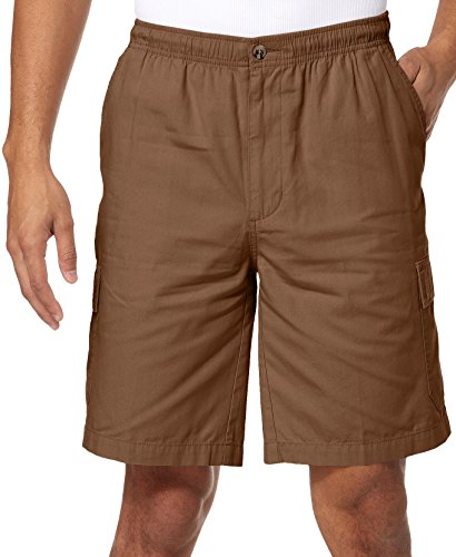 Windham Pointe Elastic Waist Mens Cargo Shorts Small Fossil - Bealls Elastic Waist Shorts