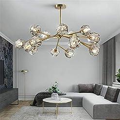 Interior Lighting Saffbei Crystal Chandelier Modern Sputnik Chandeliers Crystal Pendant Light with 18 Lights Contemporary Gold Chandeliers… modern ceiling light fixtures