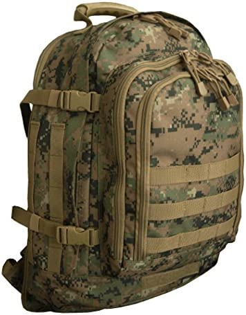 Code Alpha Tactical Gear Three Day Backpack, Marpat Woodland Digital Camouflage, 20