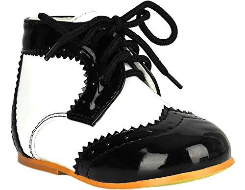 Chaussures Garçons Lacent Bébés Mariage Ael Page Noir Formelles Christening Boy Enfants qtnEqxa