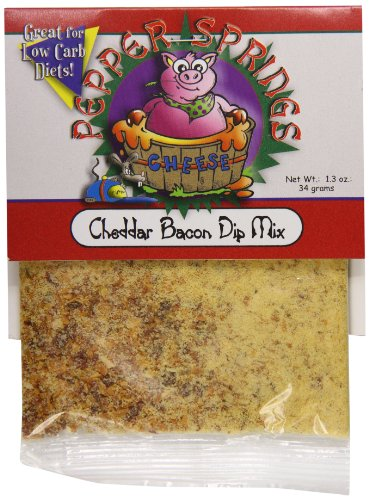 Mix Pepper Dip (Pepper Springs Cheddar Bacon Dip Mix, 1.5 Ounce)