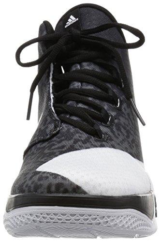adidas Herren Light Em Up 2 Basketballschuhe Weiß / Grau / Schwarz (Ftwbla / Negbas / Onix)