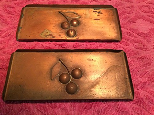 "Vintage 3 X 7 "" Webb Davis Hand Wrought Copper Trays From the Texas School of Creative Arts Circa 1920-1936"