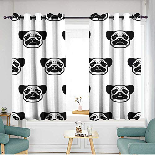 (home1love Indoor/Outdoor Curtains W 72
