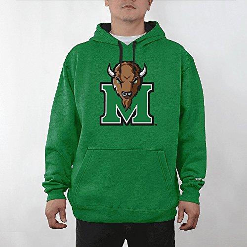 Elite Fan Shop Marshall Thundering Herd Hooded Sweatshirt Icon Green - L - Marshall Thundering Herd Pocket