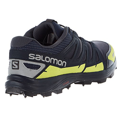 Salomon Speedspike CS Running Shoes - Navy Blazer, Reflective Silver, Lime Punch - Mens - 10 by Salomon (Image #4)