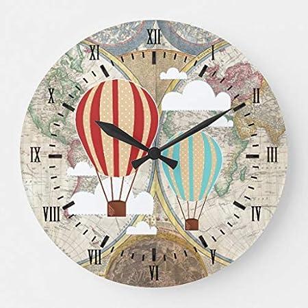 Vintage Hot Air Balloons Wall Clocks