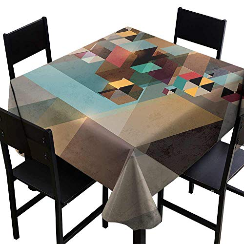 Tablecloth Factory Abstract,Colorful Structure in Pieces Modern Dynamic Graphic Design Industrial Artistic,Multicolor D70,for Bistro -