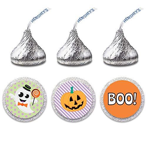 216 Halloween Themed Candy Kiss Stickers - Halloween