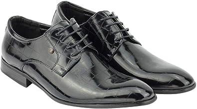 TALLA 40 EU. Negro De Cuero De Imitación De Los Holgazanes De Los Hombres De Deslizamiento Complementos Barco Zapatos Casual Tamaño De Conducción 6 A 11