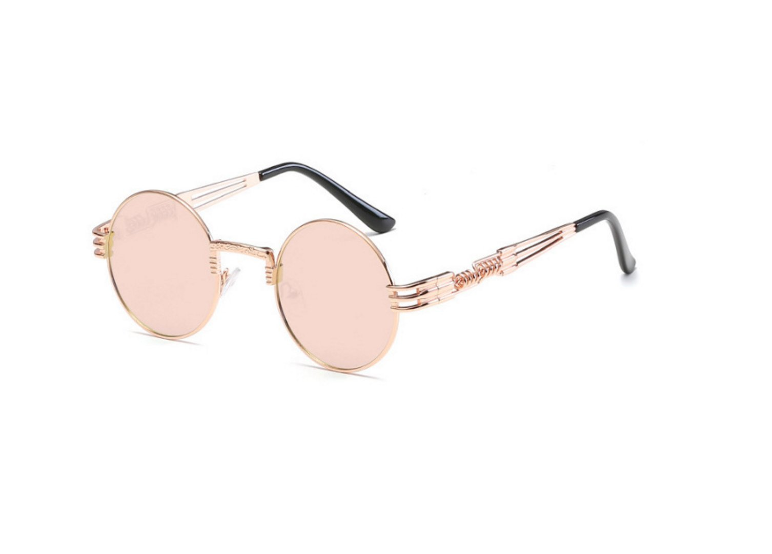 HDWY Trends Outdoor Round Frame Sunglasses Metal Sunglasses Unisex Sunglasses (Color : 4)