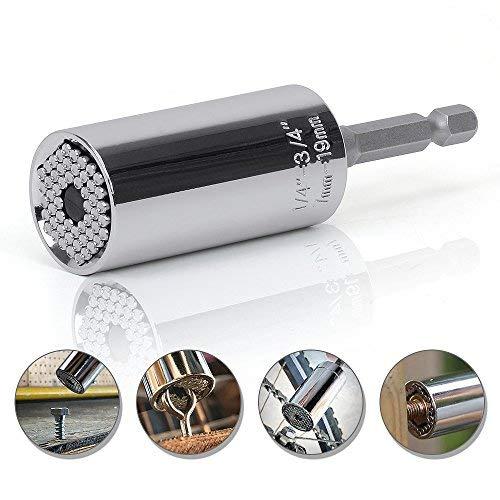Universelle Cl/é /à Clique Gator Grip 7 19 mm Multifonction Perceuse Adaptateur outils /à main r/éparation outils universels