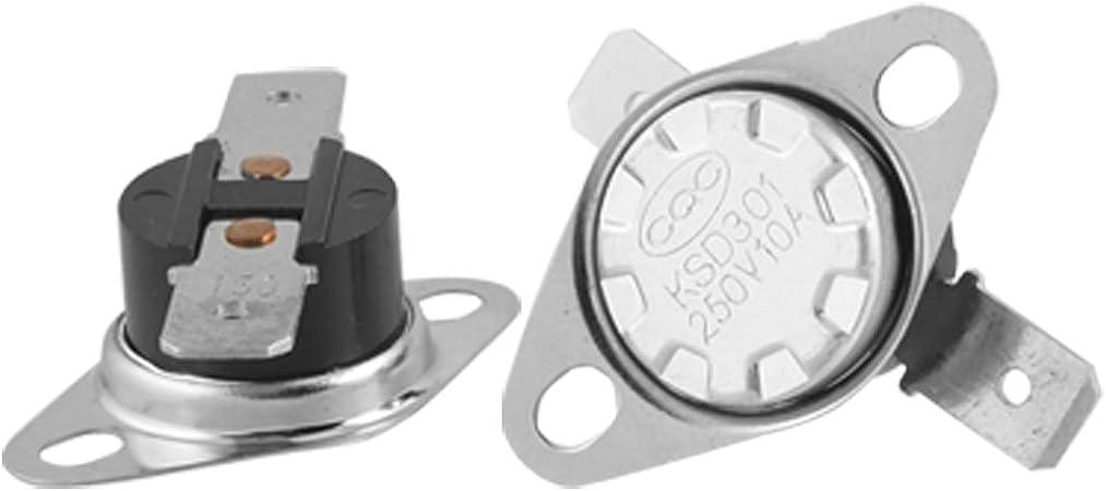 2 unidades interruptor t/érmico 55 /°C Normalmente cerrar KSD9700 Termostato N.C 10 A controlador de temperatura interruptor t/érmico metal bimetal