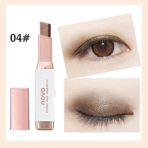 Big promotion! Two-Color Eyeshadow Pen Hosamtel Waterproof Double Color Eyeliner Eye Shadow Pencil Makeup Eye Cream Stick Eye Liner Pen Cosmetic Eyeshadow (D)