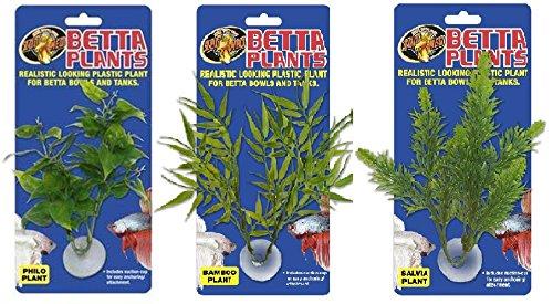 Zoo Med Laboratories Betta Philo, Bamboo, and Salvia Aquarium Plants - Bundle -