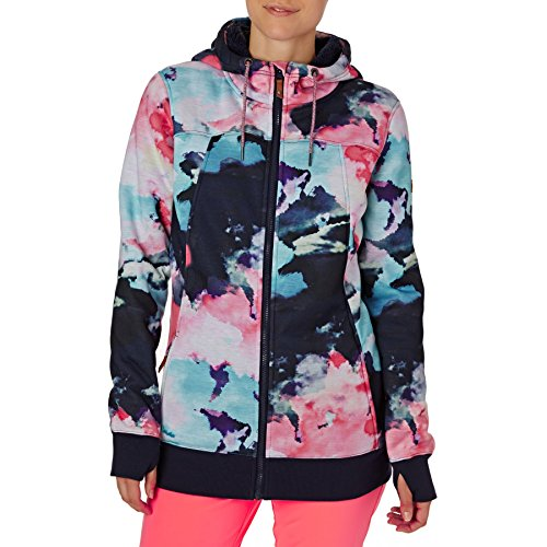 Grapefruit Cloud Nine Sherpa Cappuccio in Frost Donna e con Zip Printed Roxy Felpa Neon qP7wOwI