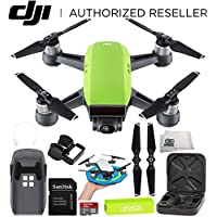 DJI Spark Portable Mini Drone Quadcopter Starter Palm Landing Pad Bundle (Meadow Green)