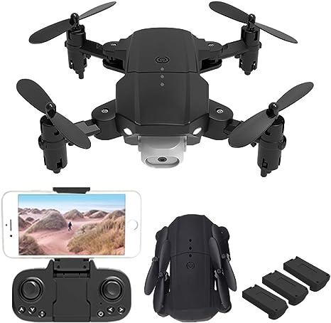 Opinión sobre Drones con cámara 720P HD Profesional, Cámaras duales 2.4G WiFi FPV Quadcopter, Distancia de Control Remoto 100m, Ajuste de 3 velocidades, Modo sin Cabeza