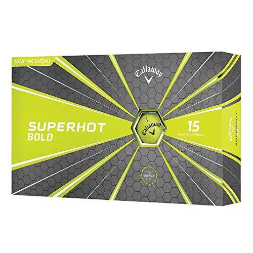 Callaway 2018 Superhot Golf Balls (Pack of 15), Bold Yellow Golf Components